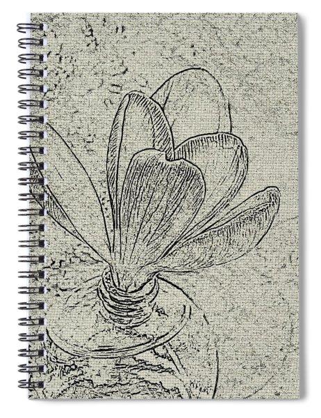 Crocus Sketch  Spiral Notebook