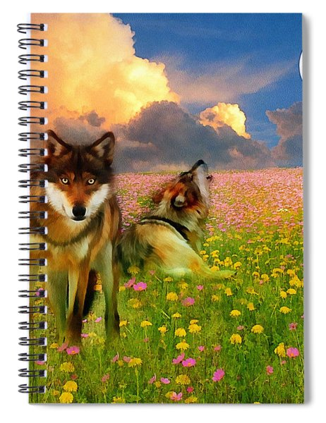 Cry At The Moon Spiral Notebook