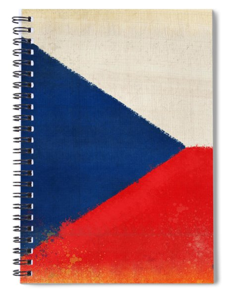 Czech Republic Flag Spiral Notebook