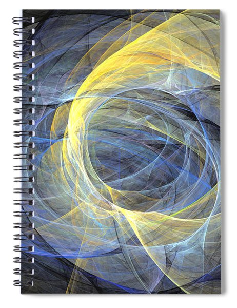 Delightful Mood Of Abstracted Mind Spiral Notebook