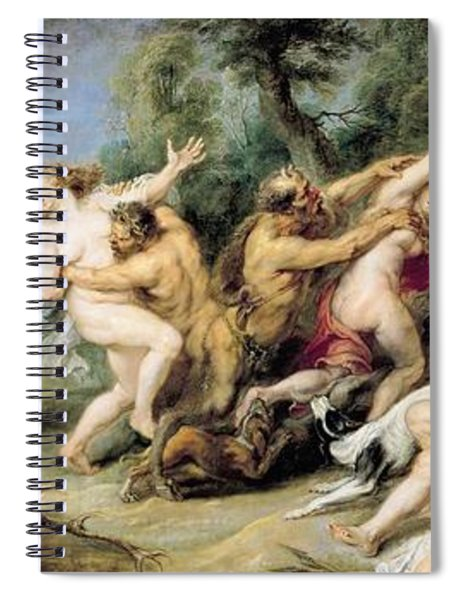 Diana And Her Nymphs Surprised By Fauns Spiral Notebook