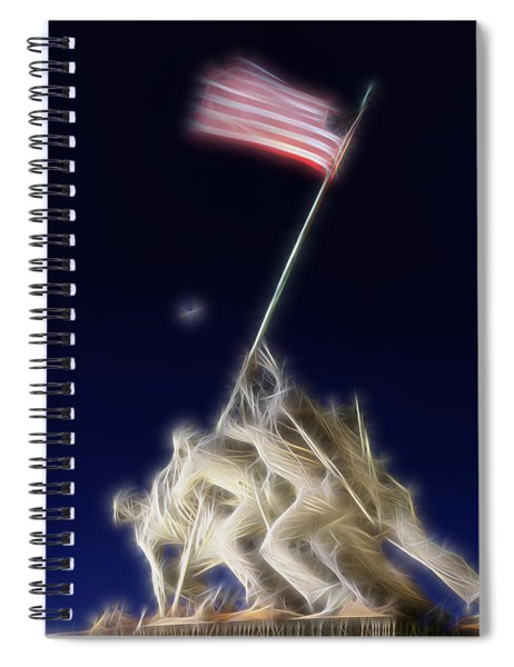 Digital Lightening - Iwo Jima Memorial Spiral Notebook