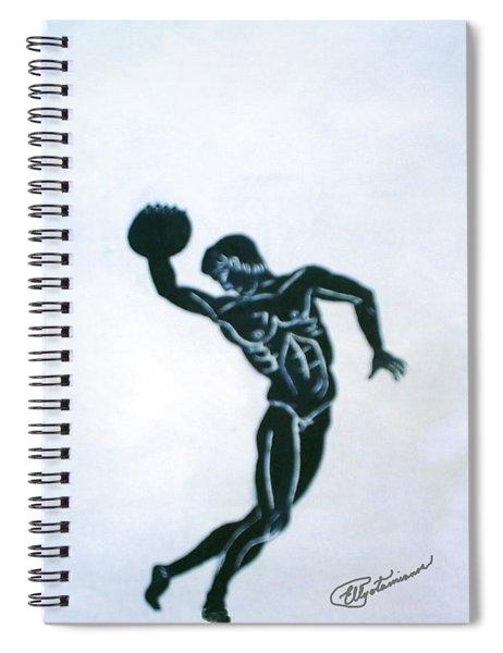 Disc Thrower Spiral Notebook