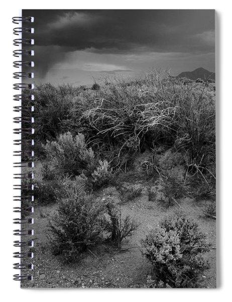 Distant Shower Spiral Notebook