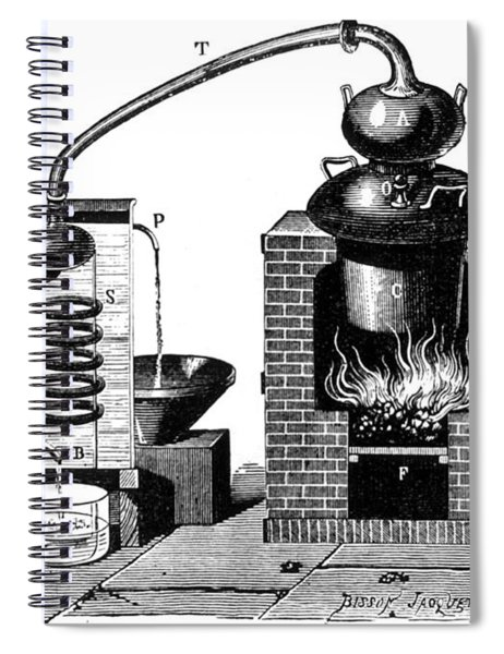 Distillation By Means Of A Metallic Spiral Notebook by Science Source