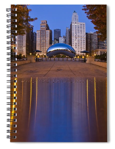 down the aisle toward Cloudgate Spiral Notebook