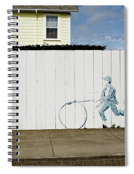 Spiral Notebook featuring the photograph Downhill Buddy by Lorraine Devon Wilke