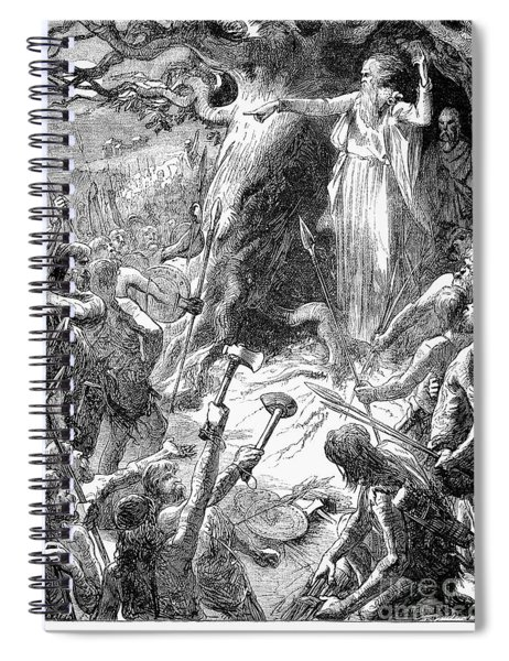Druids And Britons Spiral Notebook