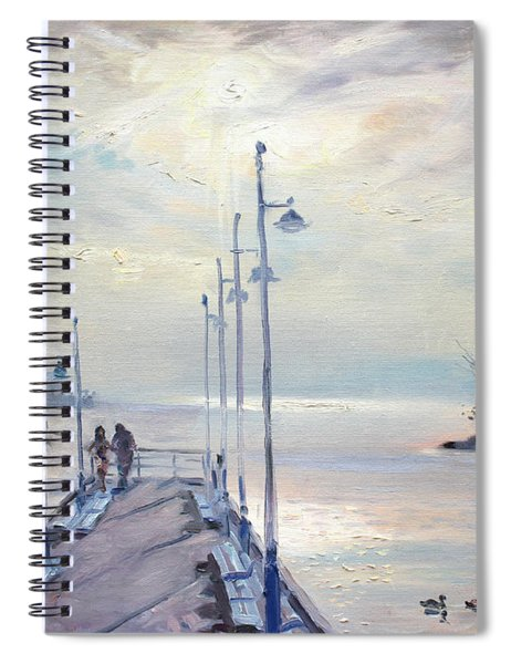Early Morning In Lake Shore Spiral Notebook