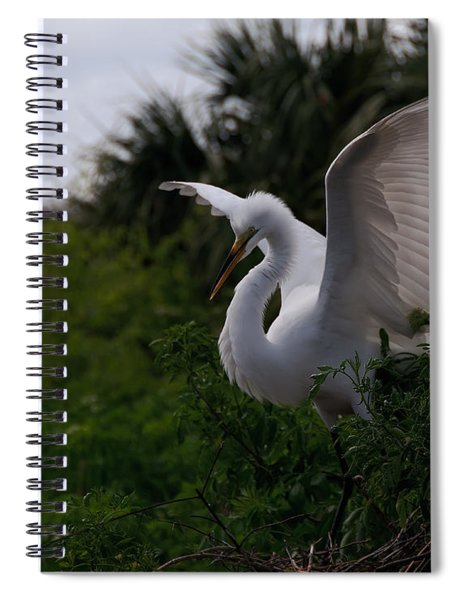 Egret Wings Spiral Notebook