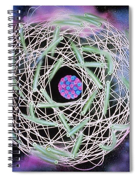 Electrons Orbiting Atom Spiral Notebook