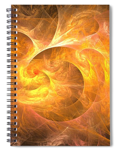 Eternal Flame - Abstract Art Spiral Notebook