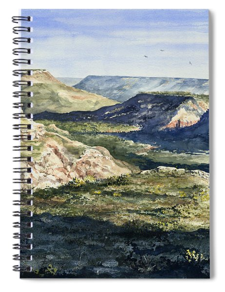Evening Flight Over Palo Duro Canyon Spiral Notebook