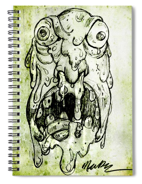 Evil Snot Monster Spiral Notebook