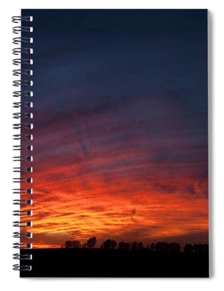 Expansive Sunset Spiral Notebook