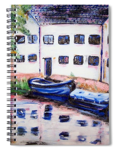 Factory On The River Spiral Notebook