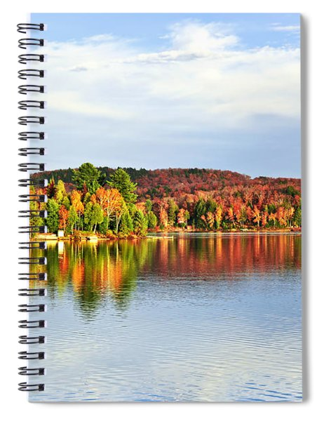Fall Forest Reflections Spiral Notebook