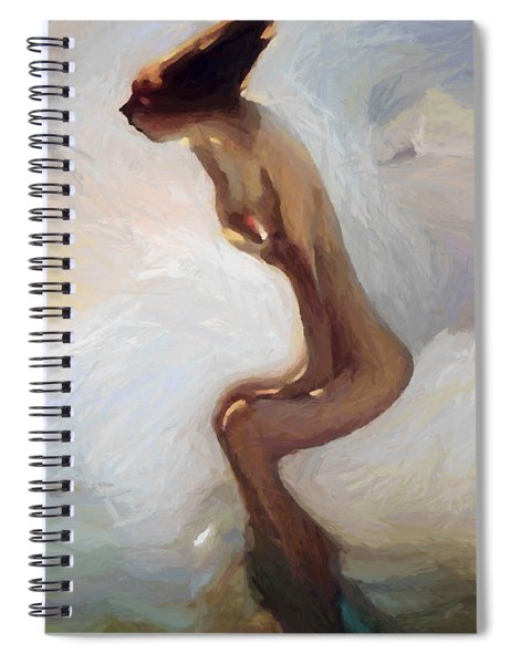 Female Motion Spiral Notebook
