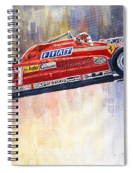 Ferrari 126 Ck Gilles Villeneueve Spanish Gp 1981 Spiral Notebook