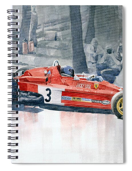 Ferrari 312 B3 Monaco Gp 1973 Jacky Ickx Spiral Notebook