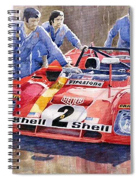 Ferrari 312 Pb 1972 Daytona 6-hour Winning Spiral Notebook
