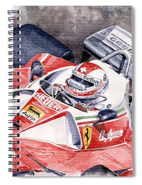 Ferrari 312 T 1976 Clay Regazzoni Spiral Notebook