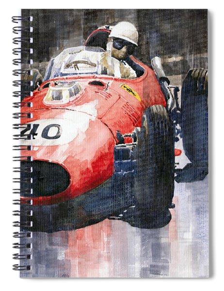 Ferrari Dino 246 F1 Monaco Gp 1958 Wolfgang Von Trips Spiral Notebook