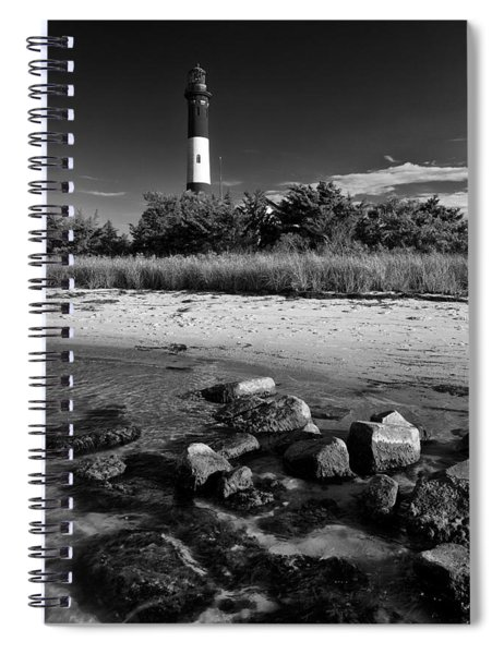 Fire Island In Black And White Spiral Notebook