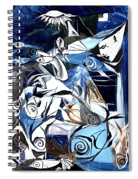 Fish Guernica Spiral Notebook