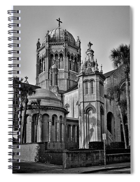 Flagler Memorial Presbyterian Church 3 - Bw Spiral Notebook