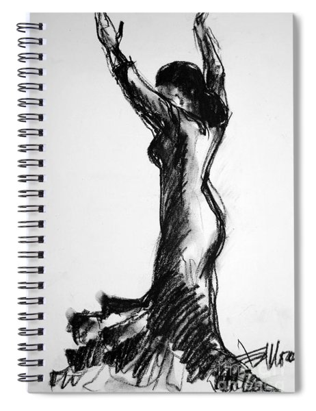 Flamenco Sketch 3 Spiral Notebook