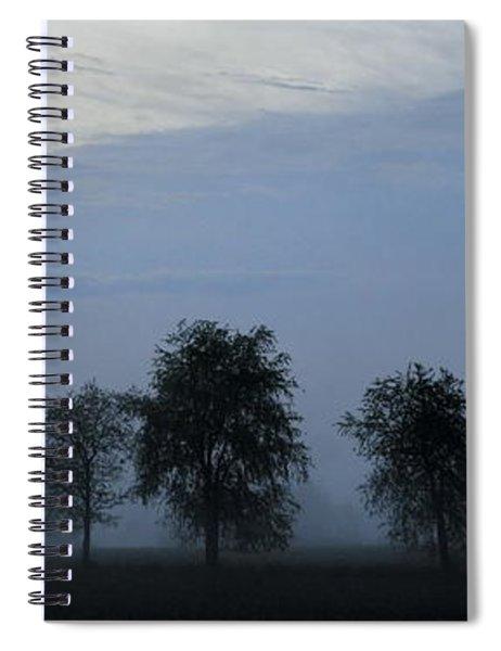 Foggy Pennsylvania Treeline Spiral Notebook