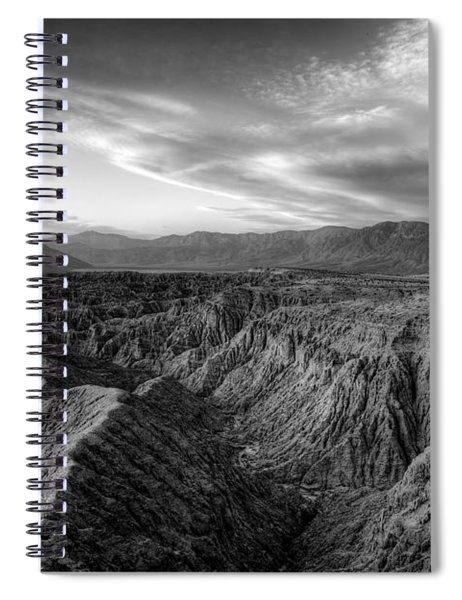 Font's Point Overlook   Black And White Spiral Notebook