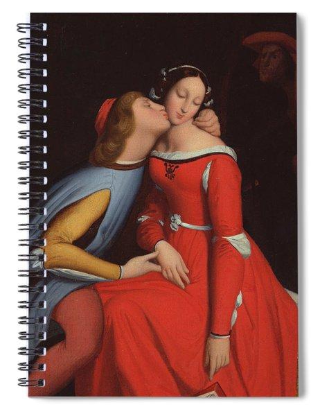Francesca Da Rimini And Paolo Malatestascene  Spiral Notebook