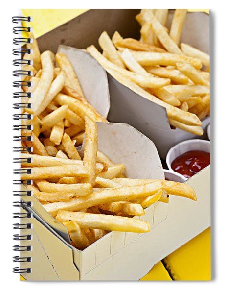 French Fries In Box Spiral Notebook