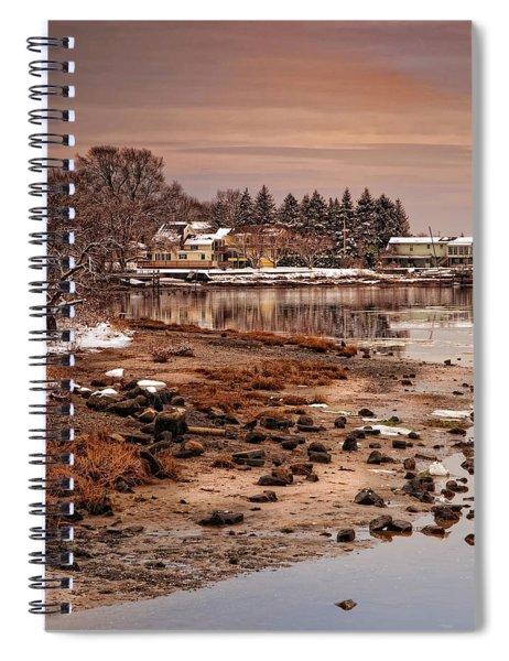 Frosty Sunset Spiral Notebook