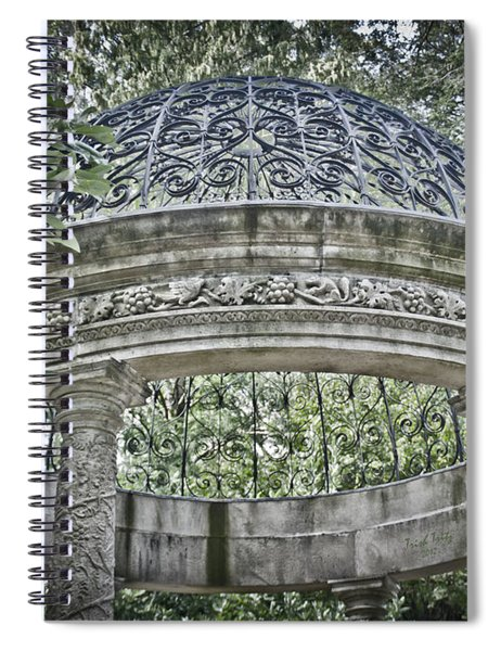 Gazebo At Longwood Gardens Spiral Notebook