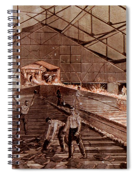 Germany: Iron Foundry 1899 Spiral Notebook