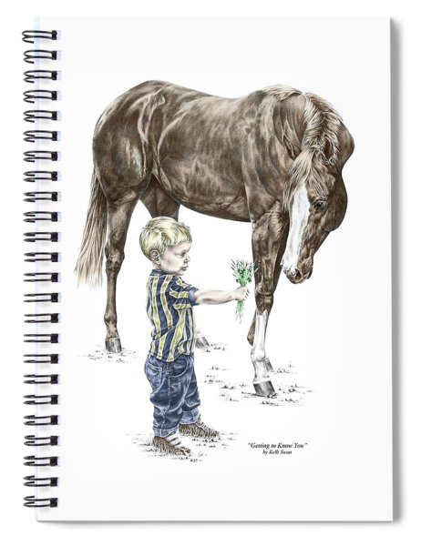 Getting To Know You - Boy And Horse Print Color Tinted Spiral Notebook