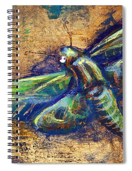 Gold Moth Spiral Notebook