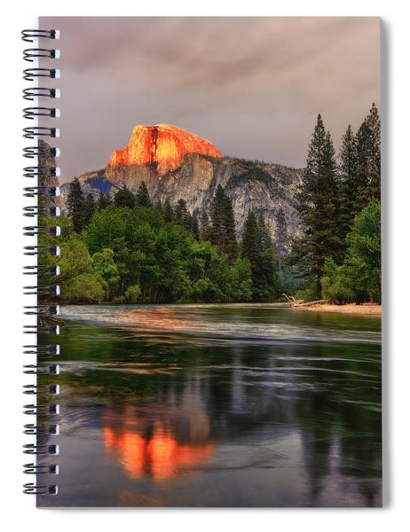 Golden Light On Halfdome Spiral Notebook