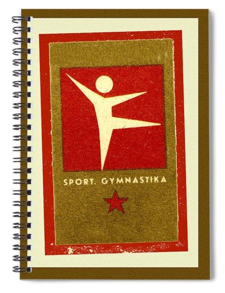 Gymnastics Matchbox Label Spiral Notebook
