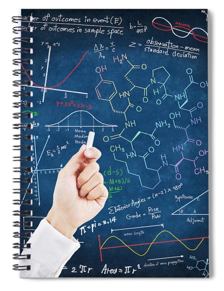 Hand Writing Science Formulas Spiral Notebook