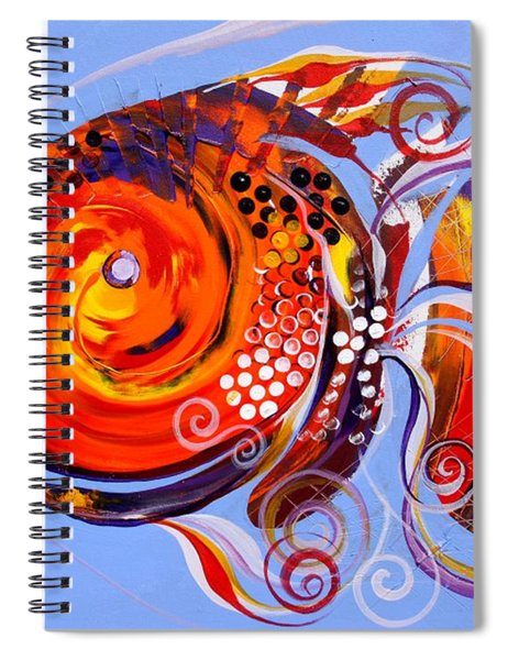Happy Rainbow Fish Spiral Notebook