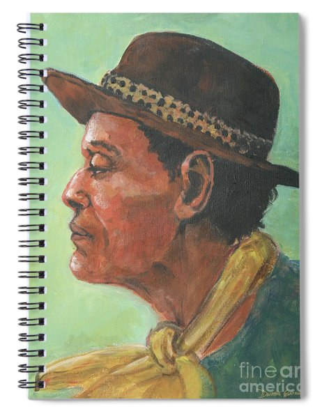 Hat And Yellow Scarf Spiral Notebook