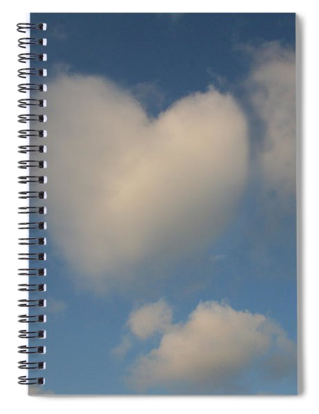 Heart In The Clouds Spiral Notebook