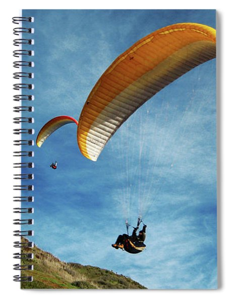 Spiral Notebook featuring the photograph High Flyers by Lorraine Devon Wilke