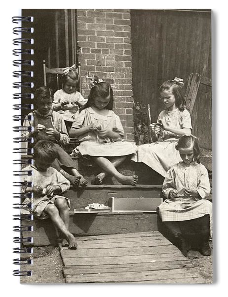 Hine: Home Industry, 1912 Spiral Notebook