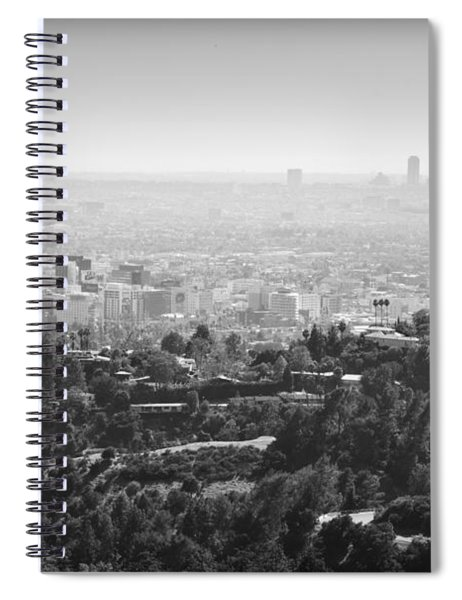 Hollywood From Above Spiral Notebook by Ricky Barnard