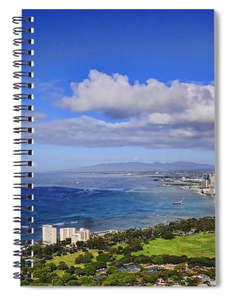Honolulu From Diamond Head Spiral Notebook